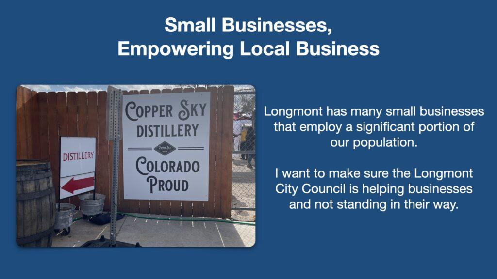 Tallis Longmont City Council Issues Business