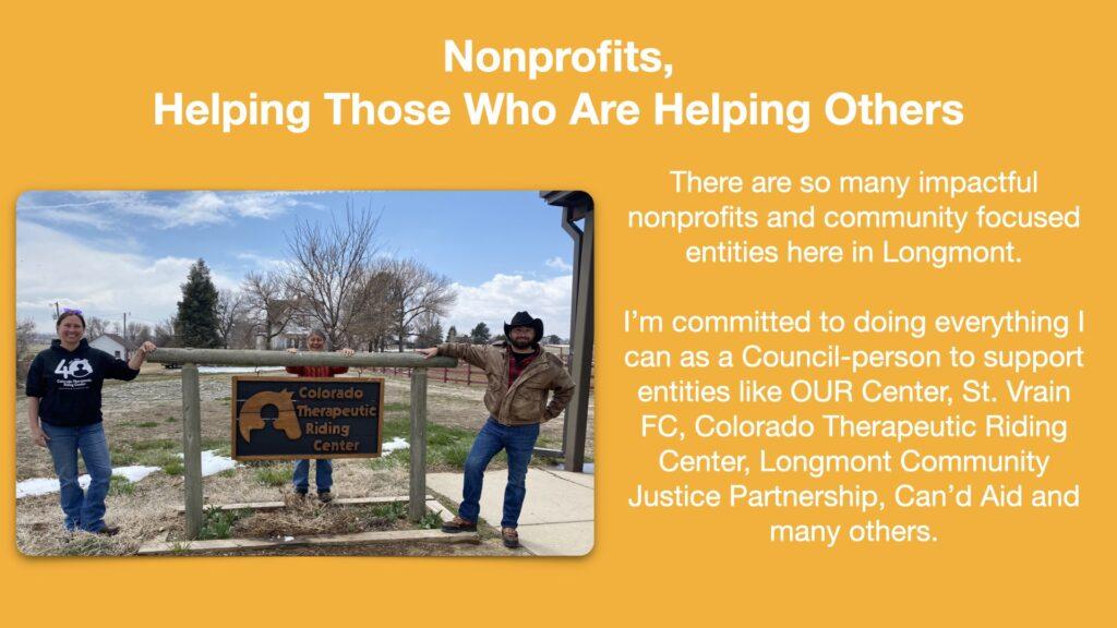 Tallis Longmont City Council Issues Nonprofits